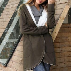 Sherpa Lined Wrap Jacket